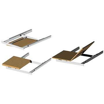 table rallonge papillon affordable table de salle a manger en bois avec rallonge new les. Black Bedroom Furniture Sets. Home Design Ideas